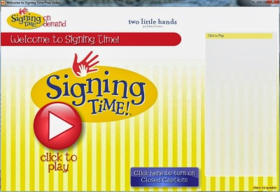 FREE Signing Time Download   Lone Star Signers