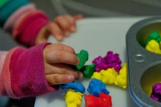 One Activity, Many Ways: Muffin Tin & Counters | San Antonio Baby Sign Language Classes