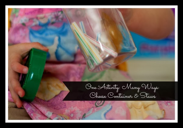 One Activity, Many Ways: Cheese Container & Straws | San Antonio Baby Sign Language Classes