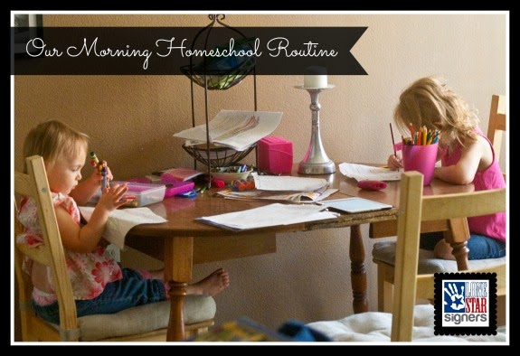 Our Morning Homeschool Routine | Lone Star Signers