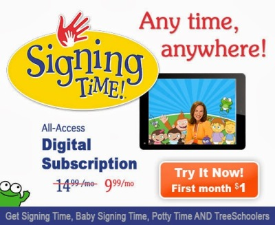 Signing Time Digital Subscription--JUST $1.00! * Lone Star Signers