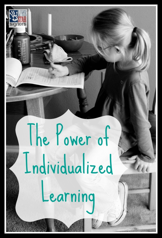 Whether you homeschool your kiddos or not, there is POWER in an indvidualized education! Read more at lonestarsigners.com!