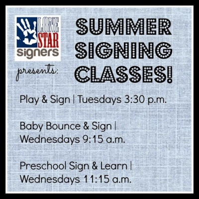 Registration NOW OPEN: Summer 2014 | Baby Sign Language Classes