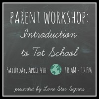 Tot School 101-April