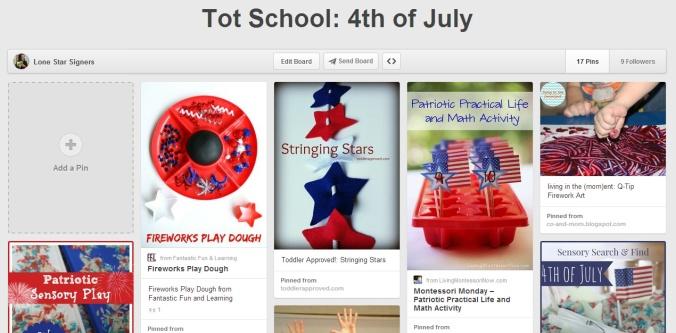 Tot School 4th of July on Pinterest