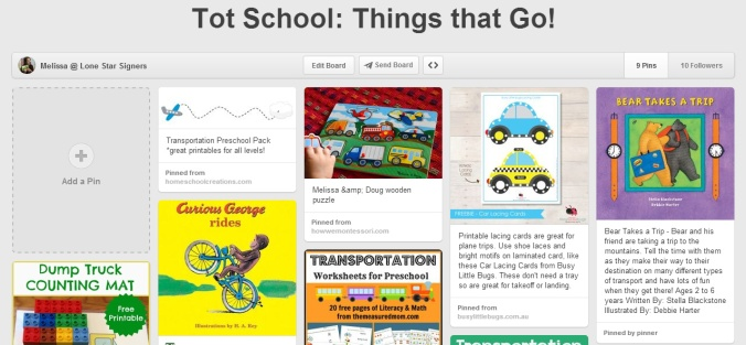 Tot School Things that Go! on Pinterest