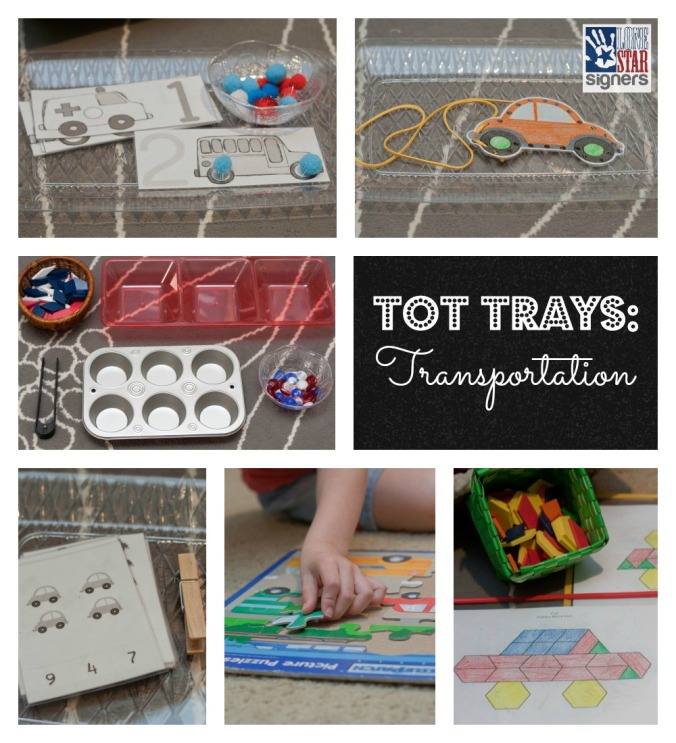 Tot Trays: Transportation | Lone Star Signers