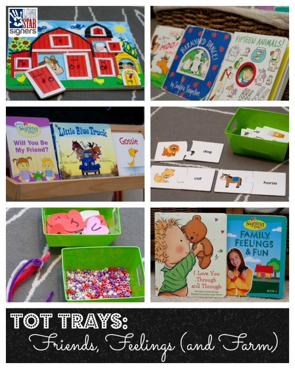 Tot Trays: Friends, Feelings, and Farm | Lone Star Signers, San Antonio