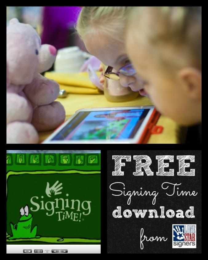 FREE Signing Time Download | Lone Star Signers