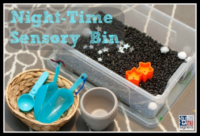 Night-Time Sensory Bin from Lone Star Signers