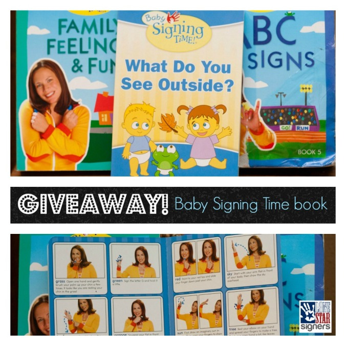 Win a FREE Baby Signing Time board book from Lone Star Signers!