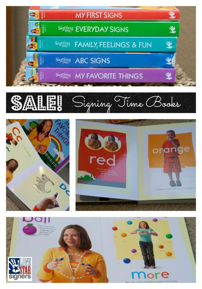 SALE: Signing Time Board Books just $6.49 each!