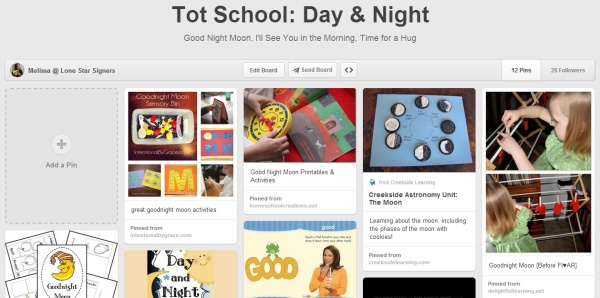 Tot School Day & Night on Pinterest - Lone Star Signers