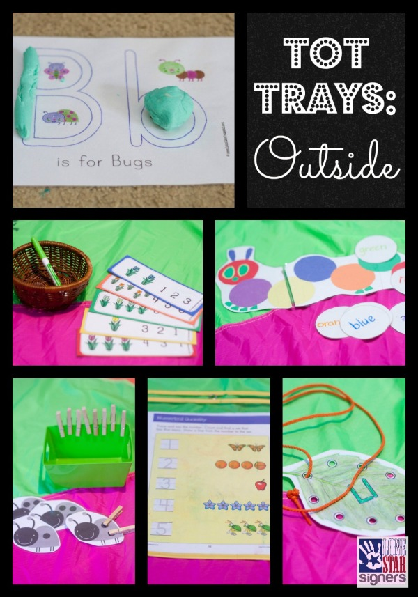 Tot School: Outside | Tot Trays from Lone Star Signers