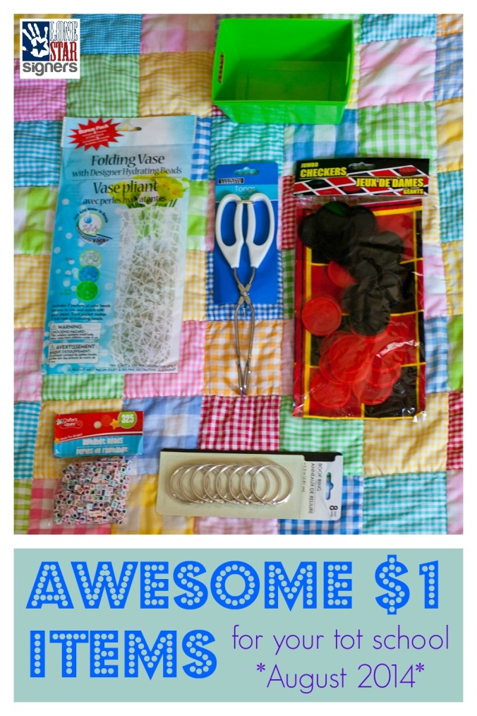 Awesome $1 Items for Your Tot School | Lone Star Signers