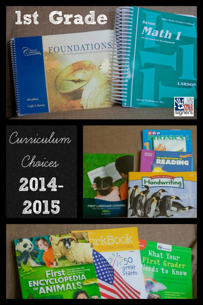 Homeschooling: 1st Grade Curriculum Choices | Lone Star Signers
