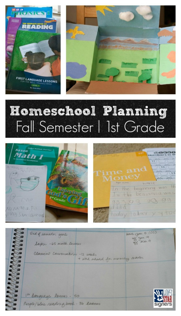 Homeschooling: Fall Semester Planning for 1st Grade and Tot School from Lone Star Signers