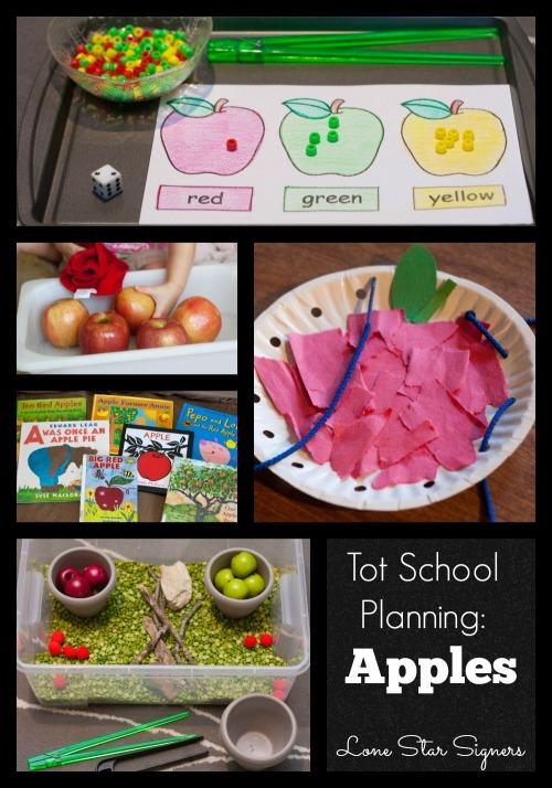 Tot School Planning: Apples