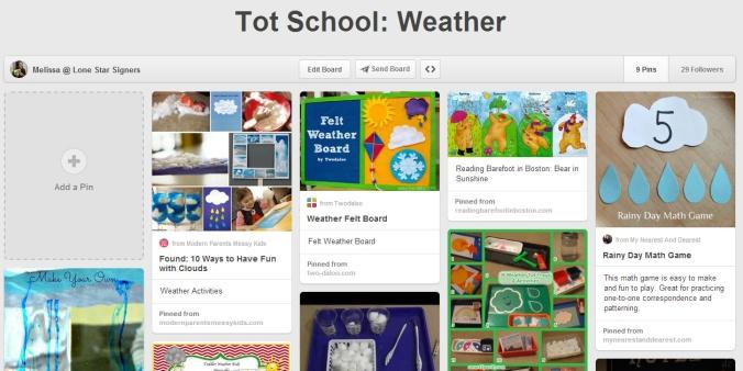 Tot School Weather on Pinterest