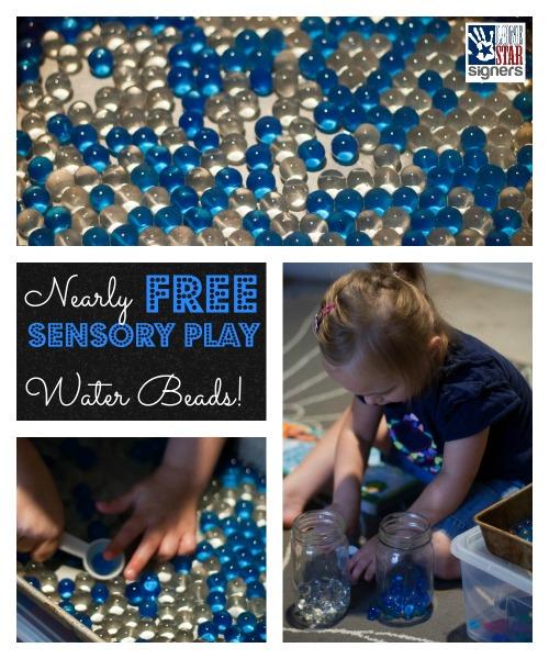 Nearly FREE Sensory Play: Water Beads!