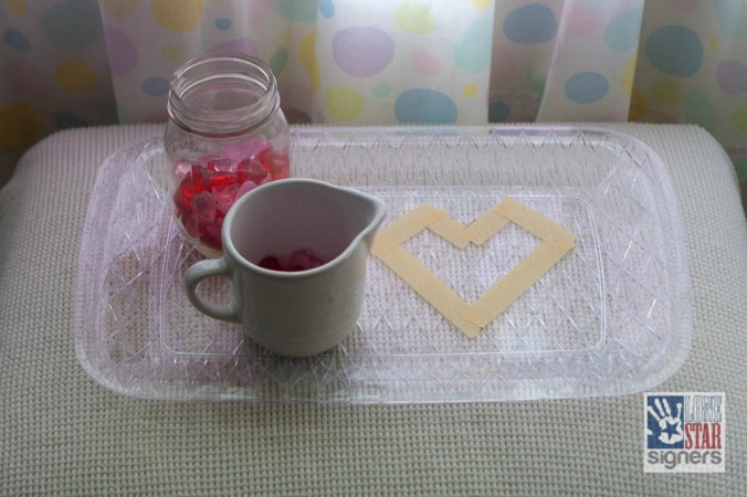 Simple Valentine's Day Tot Tray Activities from Lone Star Signers