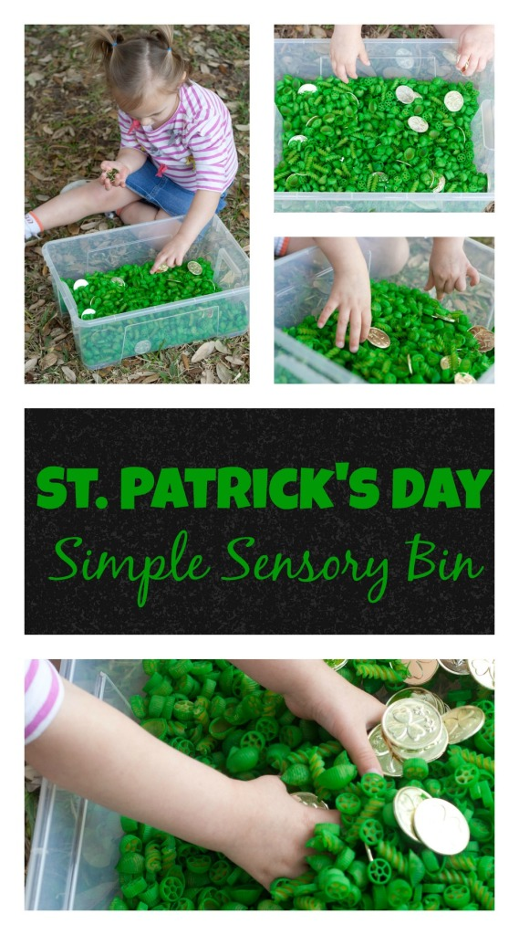 St. Patrick's Day Simple Sensory Bin from Lone Star Signers