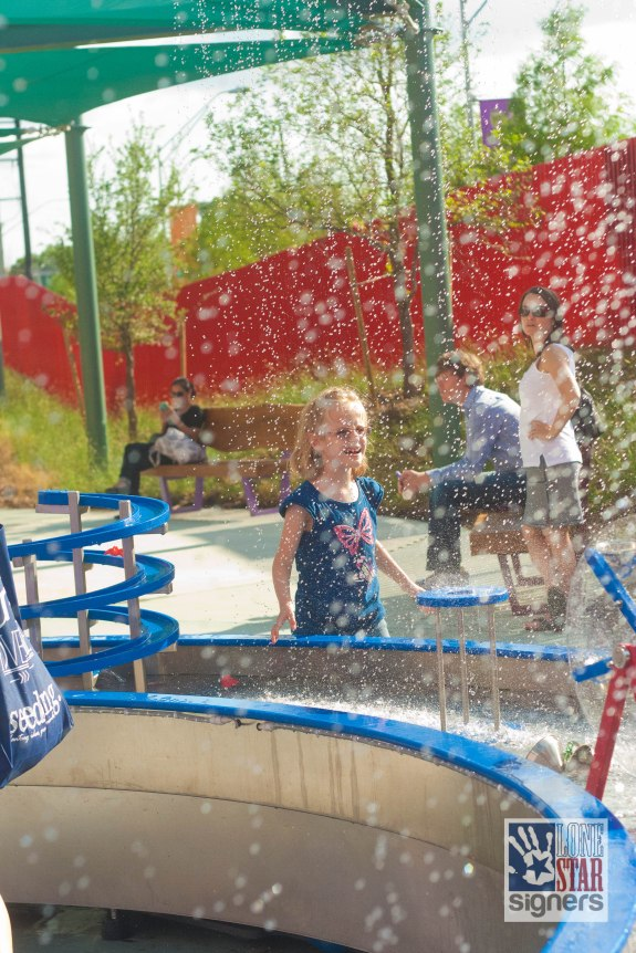 Cool off in the water play area at The DoSeum, San Antonio's museum for kids.