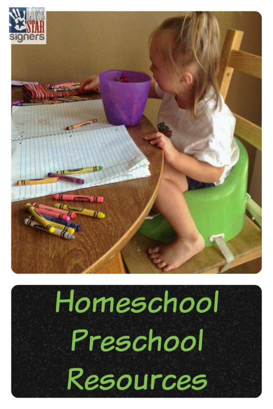 Thinking about doing preschool at home with your little ones? Check out these resources from Lone Star Signers!