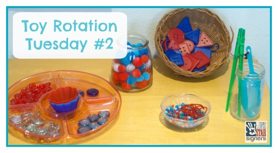 See what we're playing with! Toy Rotation Tuesday #2 with Lone Star Signers!