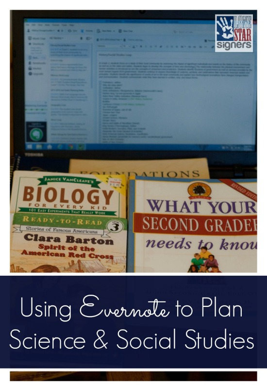 Using Evernote to Plan Science & Social-Studies | Lone Star Signers