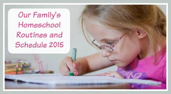 Check out our 2015 Homeschool Schedule and Routines at LoneStarSigners.com!
