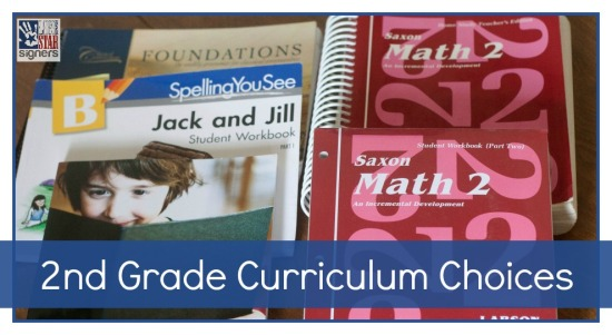 See our curriculum choices for our second grader over at Lone Star Signers!