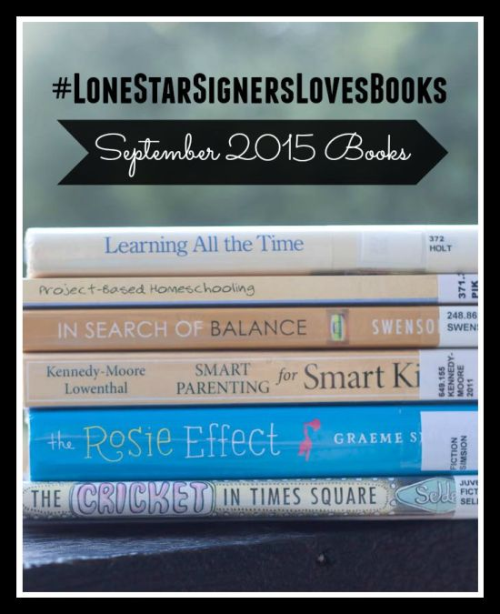 Book Update from Lone Star Signers: September 2015