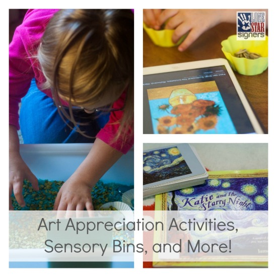 Art Appreciation Activities and Sensory Bins