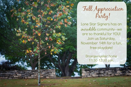 Fall Appreciation Party