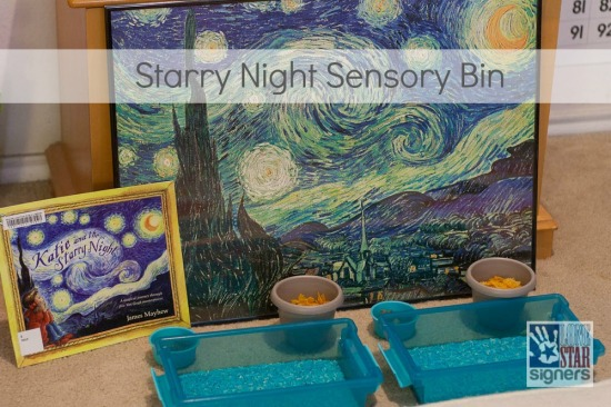 Art Appreciation Sensory Bin: Starry Night