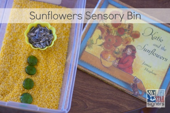Art Appreciation Sensory Bins: Sunflowers