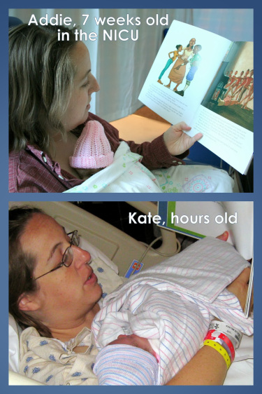 reading aloud to girls in hospital